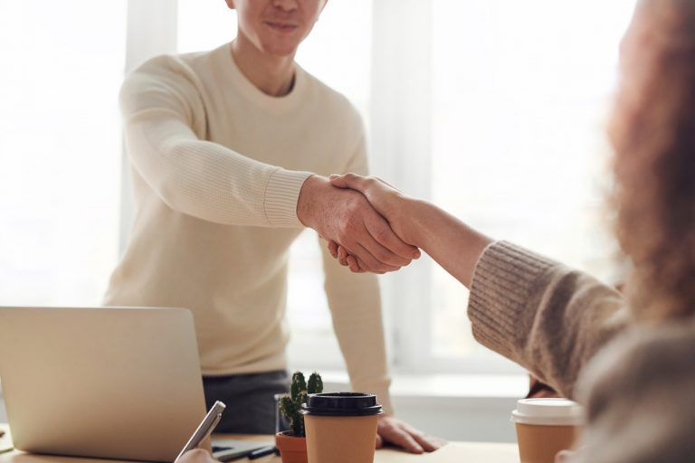 formal handshake